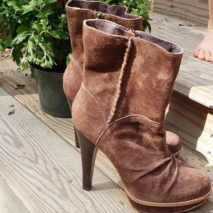 UGG Brown Suede high heal boots 8